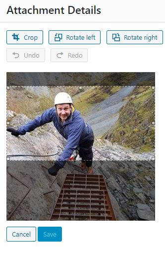 Cropping images in WordPress