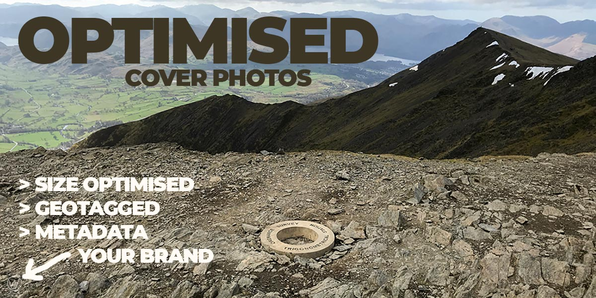Optimised cover images for social media